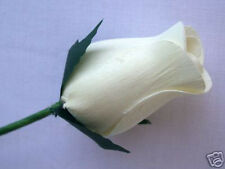 24 Ivory Cream Off White Wooden Roses Artificial Wedding Flowers Gifts Favours