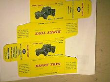 REPLIQUE  BOITE AUTOMITRAILLEUSE PANHARD AML/ DINKY TOYS 1963