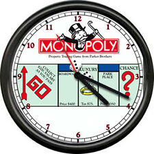 Monopoly Man Retro Game  Advertising Sign Wall Clock