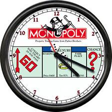 Monopoly Man Retro Game  Advertising Sign Wall Clock