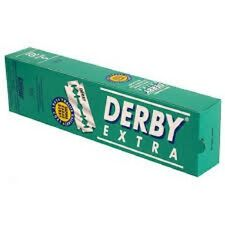 100 Derby Double Edge Safety Razor Blades Extra Platinum Coated Barber Favored