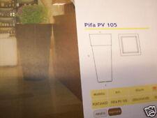 Portavaso plastica PIFA PV 105 rosso con illuminazione