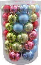 """Box 60 palle / palline / sfere di Natale in vetro """"Inge Glas"""" multi colore"""