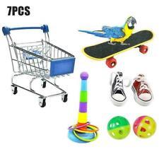 7 Packs Pet Bird Parrot Toys Skateboard Shoes Parakeet Cock S6A0 G1G6