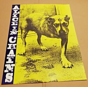 """ALICE IN CHAINS (TRIPOD) 1995 COLUMBIA/SONY MUSIC ENTERTAINMENT 19"""" X 27"""" POSTER"""