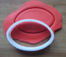 Rugby Ball Oval Cookie Cutter Biscuit Pastry Fondant Stencil silhouette Eye