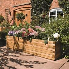 6ft Patio Planter Timber Veg Bed Trug Trough Garden Grow Plants New Herb Bed