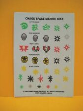 Warhammer 40k-caos Space Marines-bike-Decals-Transfer Sheet
