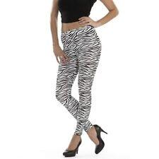 Zebra Leggins Stretchhose Animal-Print Jeggings Leggings Tights für Frauen S-M