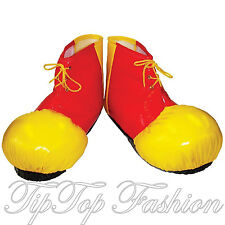 New Red&Yellow Clown Shoe Covers Circus Oversized Fancy Dress Costume Accessory