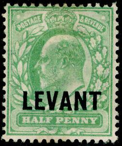 BRITISH LEVANT SG L1, ½d pale yellowish green, M MINT.