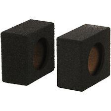 """Qpower QBTW65 Empty 6.5"""" Speaker Enclosure Qbomb w/Black Bedliner Coating, Pair"""