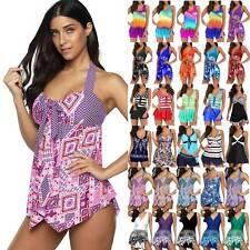 Women Swim Dress Tankini Set Swimwear Boy Shorts Swimdress Swimsuits Plus Size