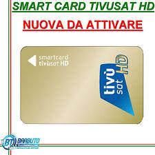 SMART CARD SCHEDA TESSERA TIVUSAT HD NUOVA DA ATTIVARE, VERSIONE GOLD HD