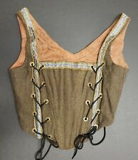 Antique Wool Corset Il Women'S Victorian Edwardian Fashion Us Textile History