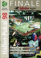 17./18.01.1998 DFB-Hallen-Pokal Finale in München mit Schalke 04, FC Bayern, ...