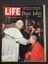 Life Magazine October 12 1962   Pope John XXIII