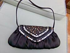 Black Sequin Small Bag by George, Evening, Cocktail, Party