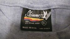 Vtg./new Plain Blank Blue Skimmers Xl 100% Cotton T-Shirt Made In Usa