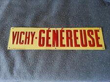 Ancienne Tôle Publicitaire VICHY GENEREUSE source