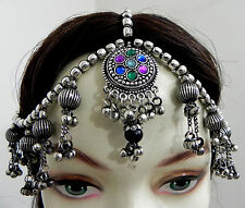 AFGHAN Kuchi Tribal Head Piece BellyDance Damni Tikka Mang Ethnic Gypsy ATS Boho