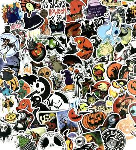 100pc Spooky Halloween TNBC Pumpkin Notebook Laptop & Phone Decal Stickers