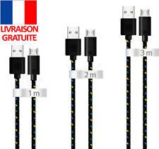 CHARGEUR CABLE MICRO USB UNIVERSEL POUR SAMSUNG GALAXY S J A EDGE TABLETTE NOIR