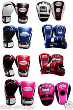 16oz Boxing gloves PUNCH PADS set pack combo FOCUS MITTS BOXING FITNESS / MORGAN