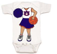 Auburn Tigers Heads Up! Cheerleader Baby Bodysuit