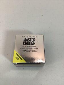 New Maybelline Master Chrome Jelly Highlighter #20 Metallic Rose - R