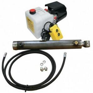 Flowfit Hydraulique 12V Dc Simple Agissant Remorque Kit Pour Levage 2.5 Tonnes,