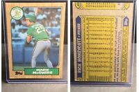 "1987 Topps Mark McGwire Oakland A's #366 Baseball Card With Error, ""Wrong Back"""