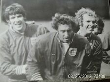 england & west ham united bobby moore + spurs chivers + liverpool hughes b+w A5