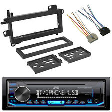 JVC DIN Digital Media Bluetooth Car Audio Radio, Scosche Wire Harness, Dash Kit