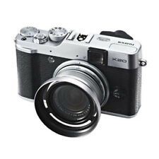 Silver Metal 52mm Adapter Ring + Lens Hood for Fujifilm X10 X20 X30 LH-X10