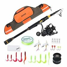New listing Fishing Pole for Adult, 2.1M/6.89ft Telescopic Fishing Rod and Reel Combo
