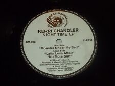 "KERRI CHANDLER - Night Time EP - USA 3-track 12"" Vinyl Single"