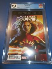 Captain Marvel #22 Awesome A Cover CGC 9.6 NM+ Gem 1st Sora Key Boseman Tribute