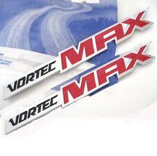 2x OEM Chrome VORTEC MAX EMBLEMS BADGES 6.0 LITER BADGE SILVERADO GM TRUCK red