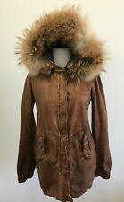 Giorgio Brato Handmade Leather Runway Jacket Detachable Fox Fur Hood Size 42