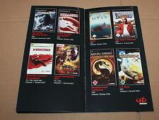 Midway Werbung Ad Flyer Spy Hunter Unreal Tournament Mortal Kombat Stranglehold