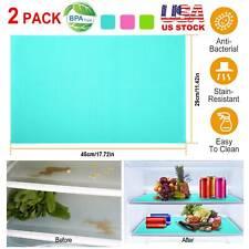 2/4 Refrigerator Fridge Washable Mat Pad Drawer Liners Kitchen Waterproof Shelf