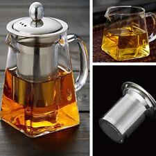 Filtre Théière en verre amovible Verre L'infuseur en acier inoxydable