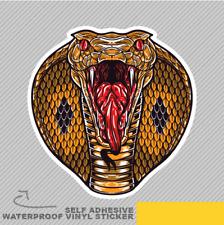 Angry King Cobra Visage Serpent fort Vinyle Sticker Autocollant Fenêtre Voiture Van Vélo 2449