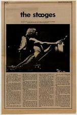 Iggy Pop & The Stooges Interview/article 1970 RS-RTYU