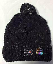 Philadelphia Flyers REEBOK Knit Beanie Toque Winter Hat Skull - New Women's Pom