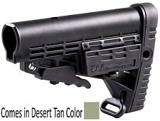 CBS-S CAA Tactical Tan Collapsible Commercial Spec Buttstock Made of Polymer
