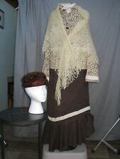 Victorian Dress Womens Edwardian Costume Civil War Prairie Style and Fur Hat
