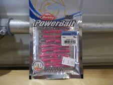"""Berkley Powerbait Ice 1.25"""" Whipworm pink 15 count package NIP"""
