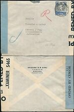KUT TANGANYIKA ARUSHA to SWITZERLAND 1940 CIVIL CENSOR + BLUE TAPE PC7 +WHITE GB
